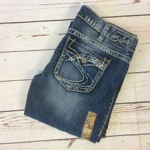 NWOT Silver Pioneer Distressed Jeans, Size W31 L33